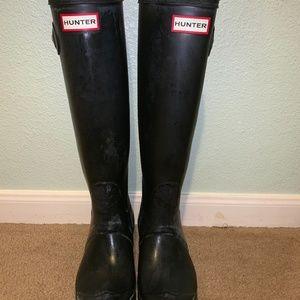 Matte Black Size 8 Hunter Boots